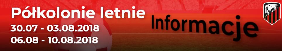 Półkolonie sportowe – 08.2018 – Informacje